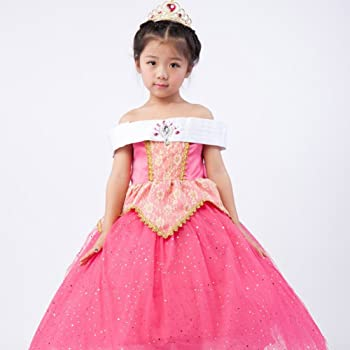 0b337bd253699 子供用ドレス 女の子 姫 ドレス+ティアラ+ステッキ コスプレ衣装 発表会・イベント