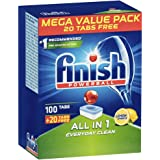120PK Finish Powerball All-in-1 Tab Dishwashing Tablets for Dishwasher Lemon