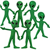 ArtCreativity Bendable Alien Figures, Set of 12 Flexible Men, Birthday Party Favors for Boys and Girls, Stress Relief Fidget