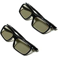 Homefunny パッシブ・偏光式 3Dメガネ LG 3DTVの為 映画館&テレビ用 【眼鏡の上から装着可能】 2個入…