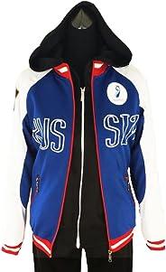 (SANTAT)ユーリ!!! on ICE 風 ユーリ・プリセツキー 風 コスプレ衣装 ジャージ+パーカー 2点セット 高品質 コスチューム (X-Large)