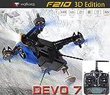【国内在庫】Walkera ワルケラ F210 3D EDITIONレーシングドローン+DEVO7送信機 (HDカメラ/OSD/バッテリー/充電器付)F210 3Dエディション日本語マニュアル付★リポバッテリー電圧チェッカー付