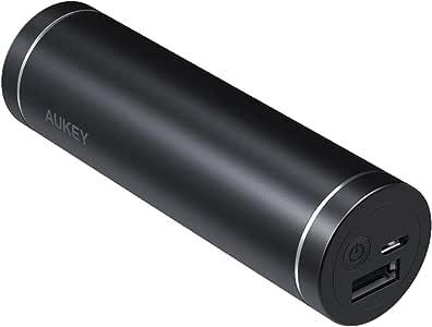 AUKEY モバイルバッテリー 5000mAh スマホ充電器 USB充電器 軽量 スライック型 4LEDインジケーター搭載 iPhone 8 / iPhone X/iPhone 7 / iPhone 7 Plus / iPhone6S / Samsung Galaxy/HUAWEI/Kindleなど各種機種対応 PB-N54(ブラック)