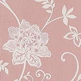 壁紙クロス 1m  リリカラ シック 花柄  ピンク 寝室・プライベートルーム LV-6358