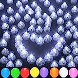 100pcs Round Led Ball Balloon Light, Mini Long Standby Time for Paper Lantern Balloon Light Party Wedding Decoration