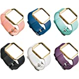 UCAI 6 Color Fitbit Blaze Bands for Women Men, Bands with Silver Clasp,Fitbit Blaze Wristbands,Large&Small Bands for Fitbit B