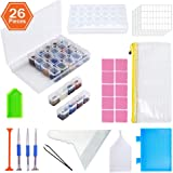 KOTWDQ 26 Pieces 5D Diamond Painting Tools and Accessories Cross Stitch Kits with Diamond Painting Fix Tools and 2pack 28 gri