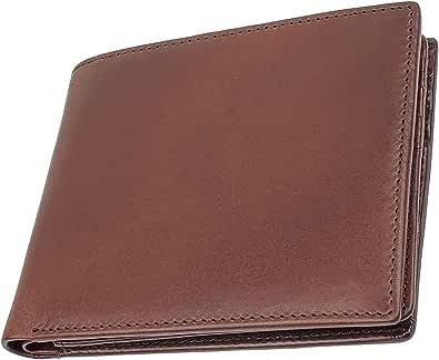 財布 メンズ 二つ折り 薄い 小銭入れ 本革 二つ折り財布 財布メンズ 一流の革職人が作る ファブリツィオ 革財布 皮 男性 イタリアン レザー 大容量
