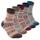 5足入メンズソックス ビジネス靴下 ウール 暖かい 厚手 防寒 保温 カジュアル アウトドア 綿 ソックス 男性 靴下 25-27cm(マルチカラー2)