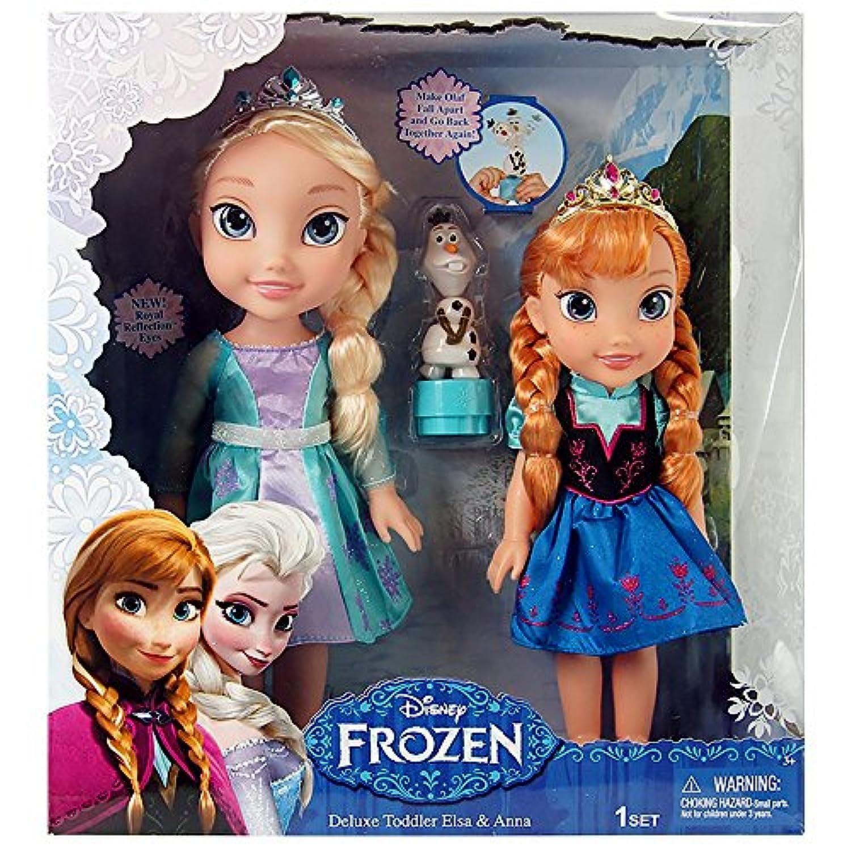 アナと雪の女王 人形 Disney Frozen Deluxe Toddler Elsa and Anna Dolls 並行輸入