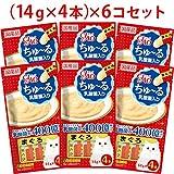 【セット販売】チャオ ちゅ~る 乳酸菌入り まぐろ (14g×4本)×6コ [ちゅーる]
