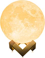 月のランプ ナイトライト 癒しの灯 デスクランプ 間接照明 インテリア照明 シンプル 満月 USB充電式 無段階調光 調光調色 タッチスイッチ 雰囲気作り 省エネ 温白色・オレンジ色切替 目に優しい ベッドサイドランプ 誕生日プレゼント 女性