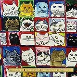 生地Manhattaner's 猫社会MA12835S-A 【×50cm】
