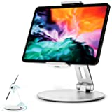 Stouchi iPad Pro 12.9 Stand, 360°Tablet Swivel Base Stand Tablet Holder Stand for iPad, Adjustable Desk Mount Holder for POS