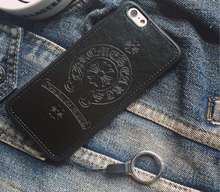ロゴデザインPhone6,6s 対応 レザー ロゴ 保護 クロムハーツ ケース カバー 高級素材(iphone6/6s(...