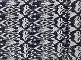 イカット Kantha キルトインド綿のクイーンベッドスプレッドリバーシブル型の装飾の投げ
