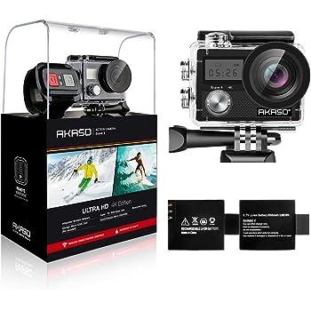 AKASO Brave4 アクションカメラ 手ぶれ補正4K超高画質2000万画素 WiFi搭載SONYセンサー使用 HD動画対応WDR モーション検出機能搭載 ドライブレコーダーとして使用可 2インチ液晶画面 魚眼レンズ採用 170°広角 30メートル防水ダイビングカメラ 2.4Hzリモコン付き 日本語対応 64GBカード対応 2x1050mAhバッテリー 付属品付き水中カメラスポーツカメラ ウェアラブルカメラバイク/自転車/車/ドローン用に取り付け可能