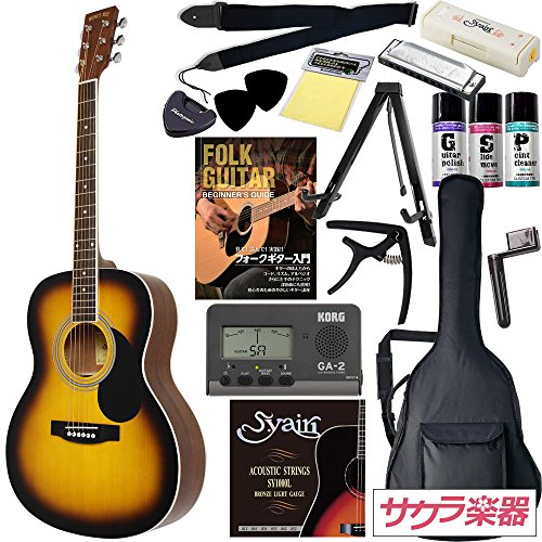 HONEY BEE アコースティックギター F-15 初心者入門16点セット /サンバースト(9707021218)