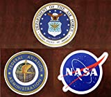 JIN SELF 【本格的なSKYステッカー】【厳選3枚セット】【アメリカ空軍省 米国連邦航空局 NASA】 カッコイイ おしゃれ ARMY ビンテージ レトロ ミリタリー アメリカン 防水止 シール スーツケース 【NASA】