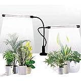クリップ式植物育成ライト 植物成長ライト LED植物ライト 50W屋内植栽ライト タイミング機能(4H / 8H / 12H) 5速調光と表示2ヘッド 360°調整可能 84 LEDライトで、不十分な日光を排除3スイッチモード 電球ジューシーな植物栽