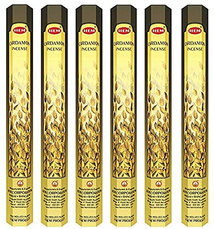 ぬるい香り説明HEM(ヘム)社 カルダモン香 スティック CARDAMOM 6箱セット