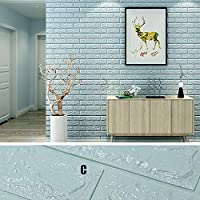 3Dピールとスティックの壁のタイルの壁紙の背景、スティックの壁のタイルはリビングルームの寝室の背景の壁の装飾(10パック)のために強く粘着厚く,Natural