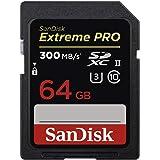 Sandisk Extreme Pro SDXC, SDXPK 64GB, U3, C10, UHS-II, 300MB/s R, 260MB/s W, 4x6, Lifetime Limited, Black (SDSDXPK-064G-GN)