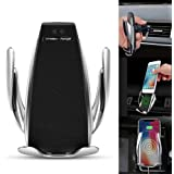 Automatic Wireless Car Charger Mount,Wireless Car Charger Holder 10W / 7.5W Fast Charging Holder Automatic Open and Clamp Car