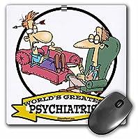 3drose 8x 8x 0.25インチ面白いWorlds Greatest Psychiatrist Occupationジョブ漫画マウスパッド( MP _ 103480_ 1)