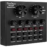 V8 ライブサウンドカード、Toolmsc サウンドカードポータブルオーディオミキサー12サウンドエフェクト、K曲、録音、楽器とのボイスチャットXbox PS4電話iPad、YouTube Facebook Tiktok用