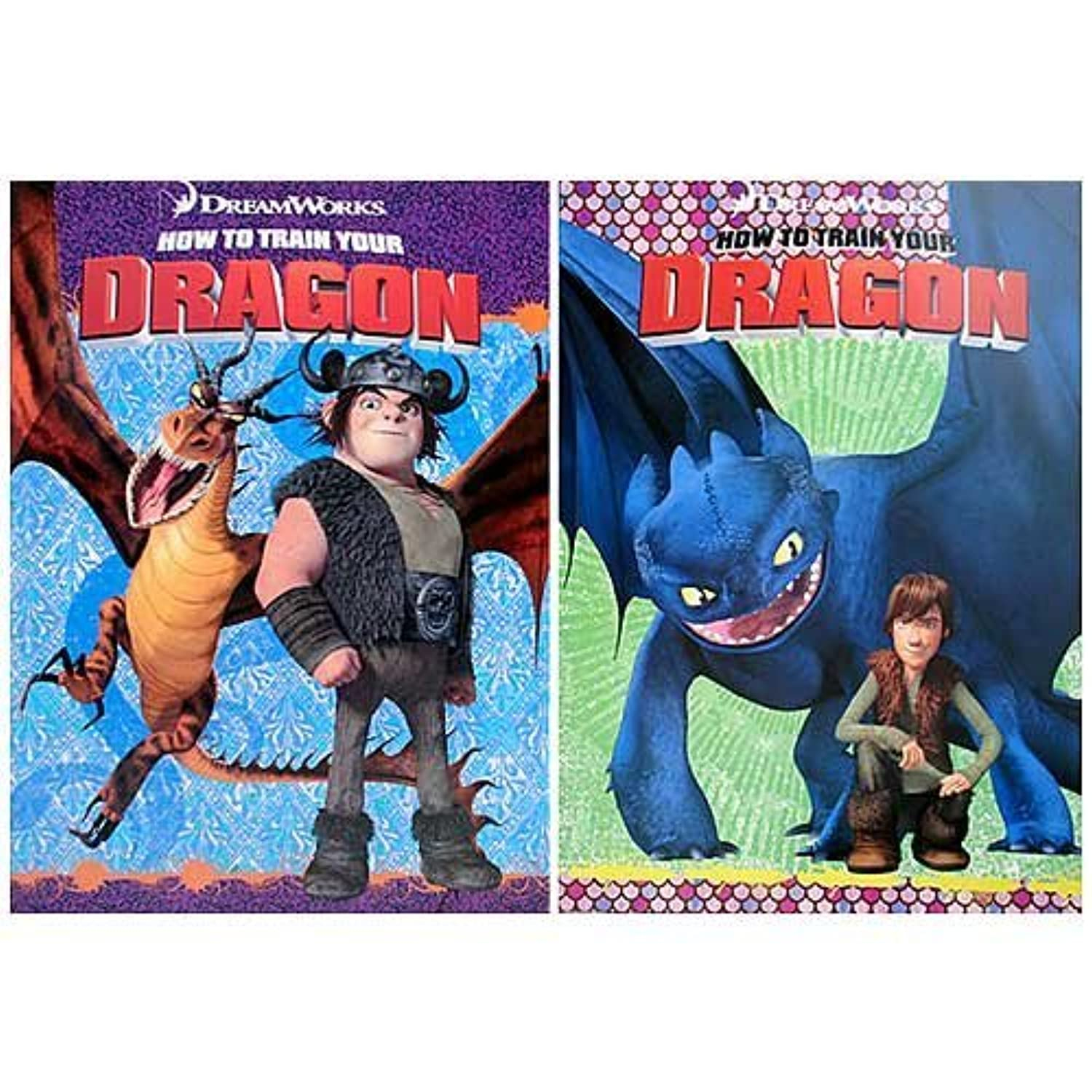 How to Train your Dragon Coloring and Activity Books (2 Books) by Dreamworks Animation by Dreamworks Animation
