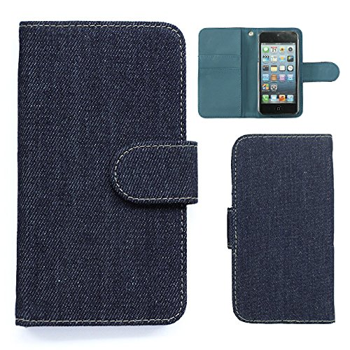 Xiaomi Mi Note 10 ケース スマホケース 手帳型 ケース デニム カード収納 ポケット カバー (カラー インディゴデニム) SIMフリー