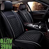 Auto N' More 高級シートカバー 自動車シートクッション 軽自動車 汎用 防水 運転席 助手席 座席カバー フロント1枚