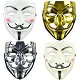 4 Pack V for Vendetta Guy Mask Halloween Mask Halloween Costume Cosplay Party Mask for Halloween Cosplay Party