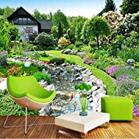 Xbwy 田園風景カスタム壁画写真の壁紙裏庭風景の背景壁画絵画寝室防音壁紙-200X140Cm