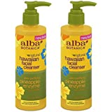 Alba Botanica Hawaiian Enzyme Face Cleanser, Pineapple, 8 oz (2pack)
