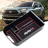 YIKA 2019 RAV4 Accessories Center Console Organizer Tray Armrest Box Secondary Storage Fit 2019 2020 Toyota RAV4