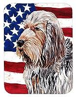 Caroline 's Treasures Otterhound withアメリカ国旗USAマウスパッド/ホットパッド/五徳( sc9636mp )