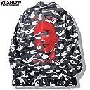 VIISHOW 迷彩 ジャケット カジュアルジャケット ウインドブレーカー メンズ コート ジャケット トップス 人気