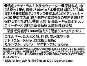 伊藤園 evian(エビアン) ディズニーパッケージ トーテムコレクターズボックス 310ml×5本