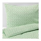 Best IKEAふとん - IKEA RÖDVED 掛け布団カバー&枕カバー ホワイト グリーン 150×200cm 50×60cm 90304342 Review