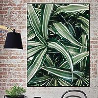 WZYDFH フレームなしの居間のためのキャンバスの壁の芸術のモジュラーリーフの絵画家の装飾の印刷物
