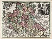 Lais Puzzle マシューSeutter地図 - アトラスNovas Indicibus Instructus(1744) - Poloniae Regnum(ポーランド王国) - モチーフのシリーズ 2000 部