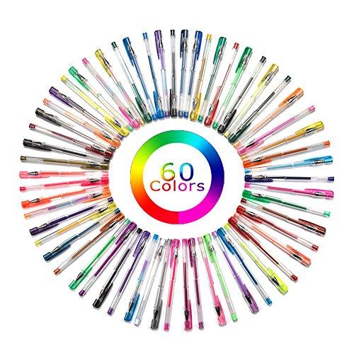 60色ジェルインクボールペン サウスサン カラーペンセット 塗り絵 秘密の庭園 60カラーセット
