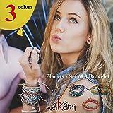 Wakami ワカミ ブレスレット Planets - Set of 3 Bracelet アンクレット メンズ レディース ペア ビーズ パーツ アクセサリー ロンハーマン Ron Herman 取扱ブランド