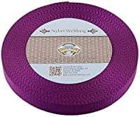 Country Brook Design 1-Inch Heavy Nylon Webbing 50-Yard Purple [並行輸入品]