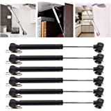 LICTOP Soft Close Lid Support 80N/18lb Hydraulic Gas Spring Cabinet Door Safety Lift Support, Black,6 Pcs