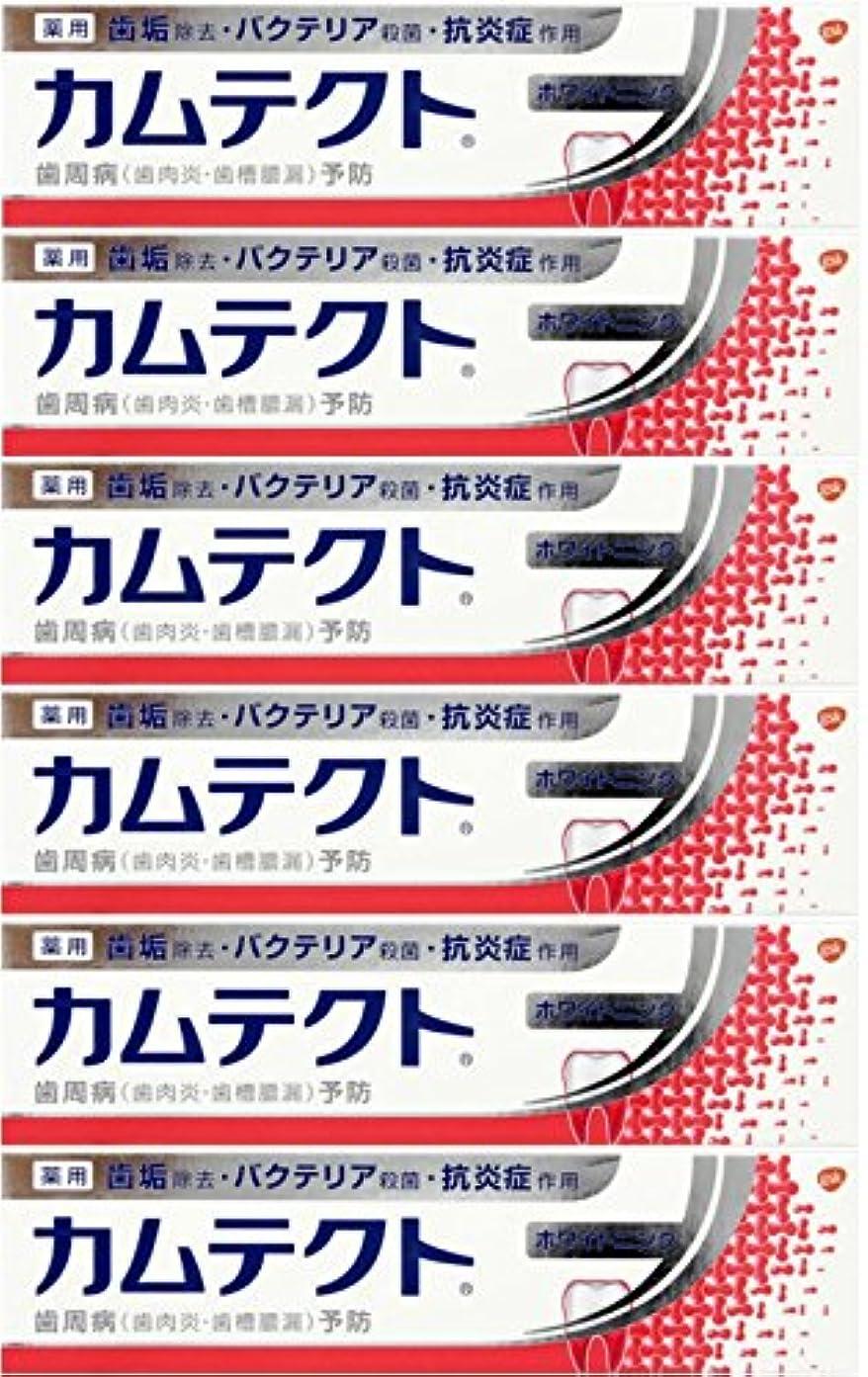 揃えるルート副産物【まとめ買い】カムテクト ホワイトニング 歯周病(歯肉炎?歯槽膿漏) 予防 歯みがき粉 105g×6個