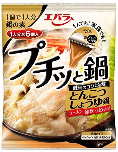 エバラ プチッと鍋 とんこつしょうゆ鍋 (23g×6個入)×3個