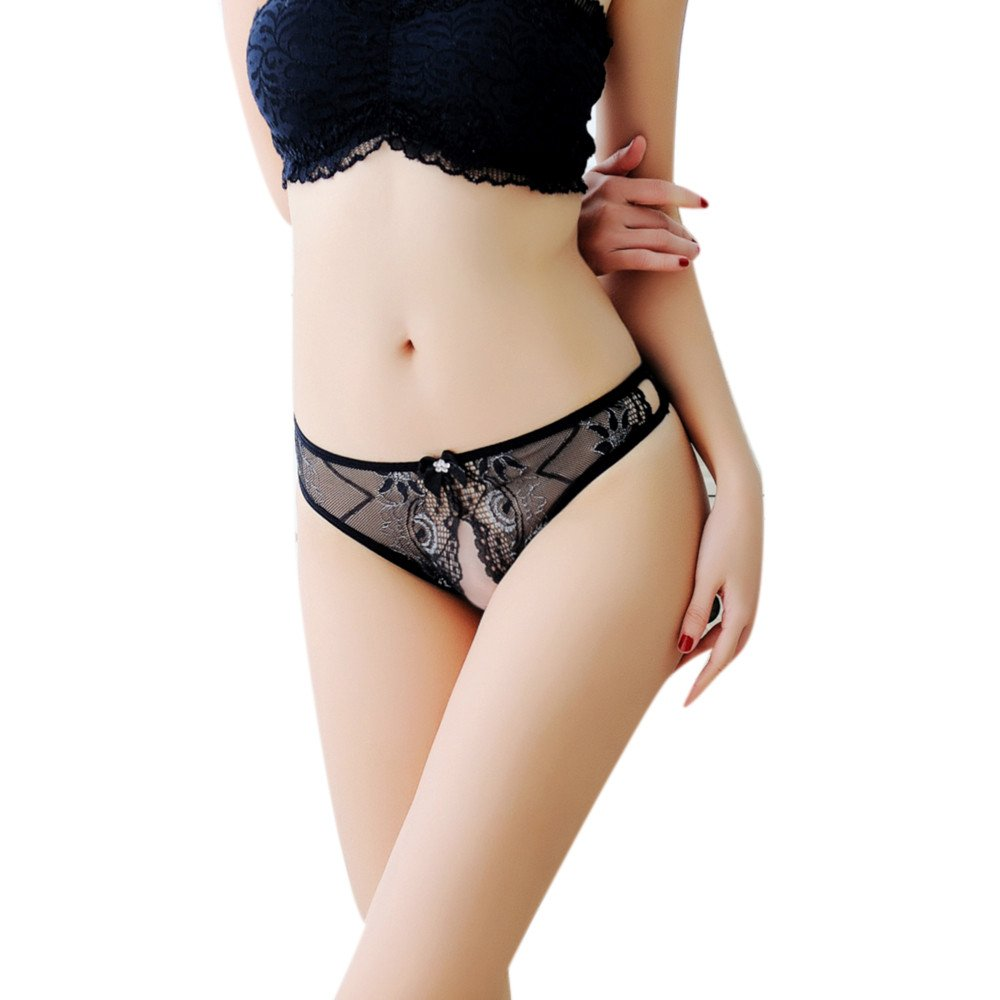 4e611a8e13f Women Sexy Thong Back Sheer Show Pan Total Lace Shorts See Through Cute  Lace Pattern Panty Temptation Underwear Black Shorts Lingerie Hole Butterfly  Gift